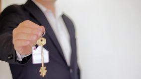 Key to a new home. Real estate stock footage