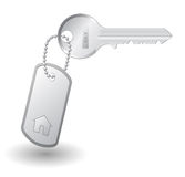 Key to own home. Isolated on white background Stock Images