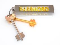Key to password Royalty Free Stock Photo