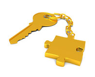 The key to the puzzle royalty free stock images