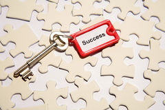 Key to the puzzle Royalty Free Stock Photography