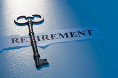 Key To Retirement Royalty Free Stock Image