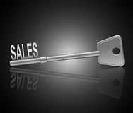 The key to sales. Stock Photo