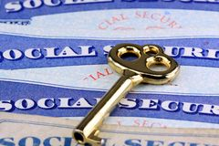 The key to social security benefits Stock Photo