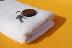 Key to a spa room Royalty Free Stock Images