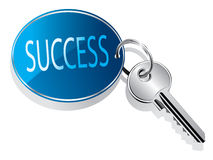 Key to success. Vector illustration of a success key ring Stock Photo