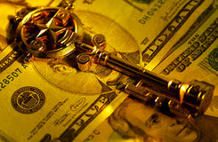 Key To Success. Key and Money.  Key To Success Concept Stock Image