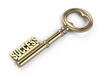 Key to success. On white background Royalty Free Stock Photo