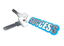 Key to success. On a white background Stock Image