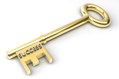 Key to Success. Gold key with the word success Royalty Free Stock Image