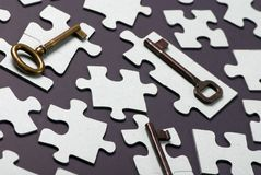 Key to Success 3. Putting all the pieces together is the key to success Stock Photography