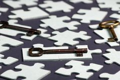 Key to Success 4. Putting all the pieces together is the key to success Stock Photo