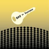 Key to success with arrows Stock Images
