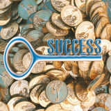Key to success in business ( dollar version in top view ) Stock Image