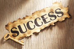 Key to success concept Stock Image