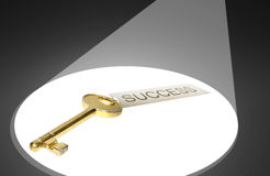 Key to success concept. The object of desire for every entrepreneur stock illustration