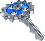 Key to success. High resolution rendering of an key to success Stock Photo