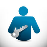 Key to success icon illustration design Royalty Free Stock Photo