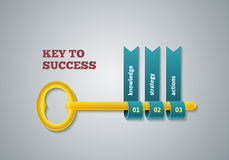 Key to success illustration Royalty Free Stock Photos
