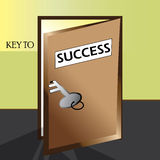 Key to success- Illustration Stock Photography