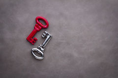 Key to success.jpg. Key to success red and silver key Business solution concept.jpg Stock Photos