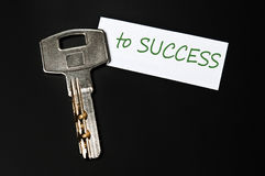 Key to success message Royalty Free Stock Photos