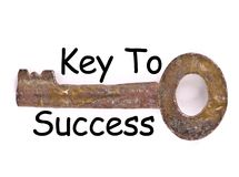 Key to success illustration stock photography