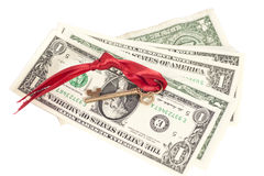Key to success on one dollar banknotes Stock Image