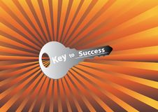 Key to success with rays Stock Images