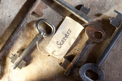 Key to success. Key with a success tag Stock Photography