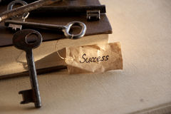 Key to success. Key with a success tag Royalty Free Stock Image
