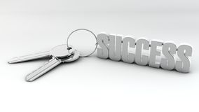 Key to success on white Stock Images