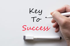 Key to success written on whiteboard Royalty Free Stock Photography
