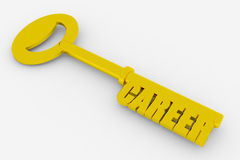 Key to successful career stock illustration