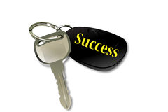 The key to succession. On the white background Royalty Free Stock Images