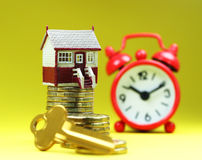 Key To The House About Time! Royalty Free Stock Images