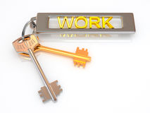 Key to work Royalty Free Stock Image