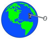 Key to the world Royalty Free Stock Photo