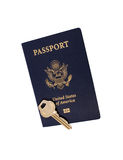 Key to Worldwide Travel. The Key to Travel the World Stock Images
