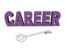 The key to your career - a 3d image. The key to a successful career, concept 3d image vector illustration