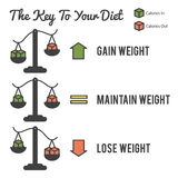 The Key to Your Diet Stock Photo