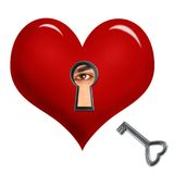 Key to your heart Royalty Free Stock Images
