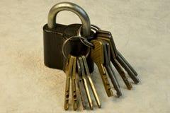 The key tool to open locks. royalty free stock image