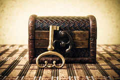 Key and treasure chest Royalty Free Stock Image