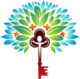 Key tree. Abstract design of key tree on  white background Royalty Free Stock Photos