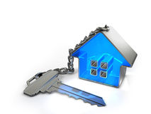 Key with trinket-house Royalty Free Stock Images