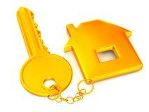 Key with trinkets Royalty Free Stock Photos