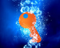 Key under water Royalty Free Stock Photography