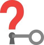 Key unlocking question mark keyhole Stock Photography