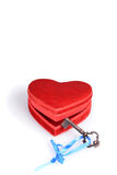 Key unlocking red heart Royalty Free Stock Image